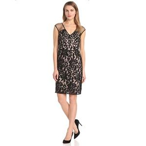 NWT! Maggy London Baroque Lace Cap Sleeve Dress